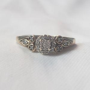 10k Vintage Diamond Ring